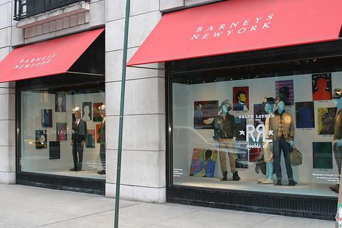 Facade and interior design for Barney's