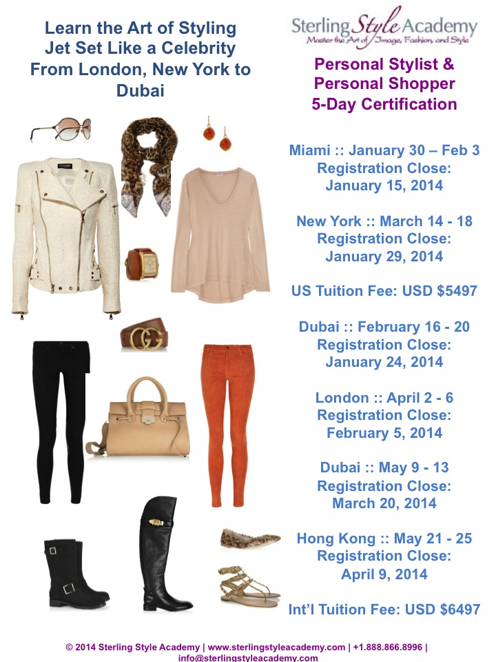 5 Day Personal Stylist & Personal Shopper Training 2014