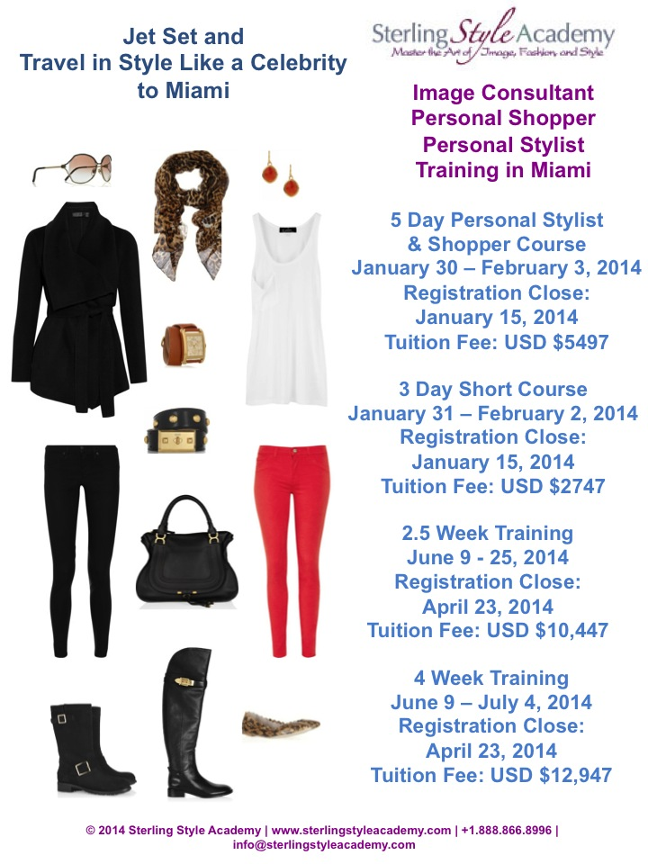Miami Image Consultant, Personal Stylist & Personal Shopper Training 2014