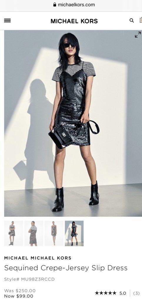 Michael Kors Sequined Slip Dress