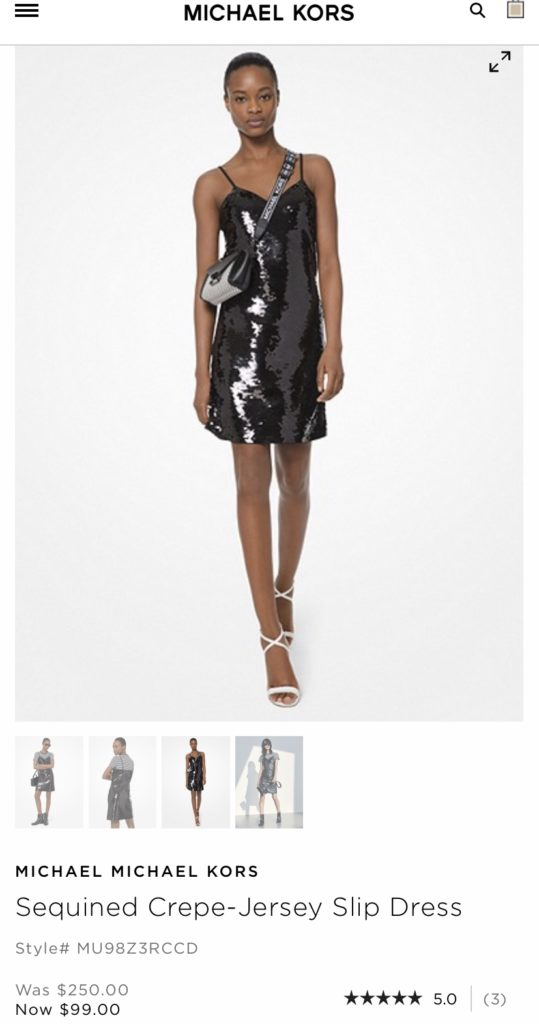 Michael Kors Sequined Crepe - Jersey Slip Dress