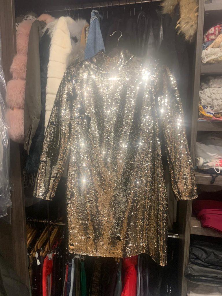 London Personal Stylist Gold Sequin Dress Pick