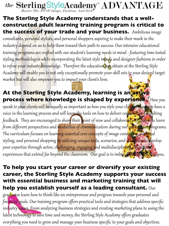 The Sterling Style Academy Training Advantage Page 1