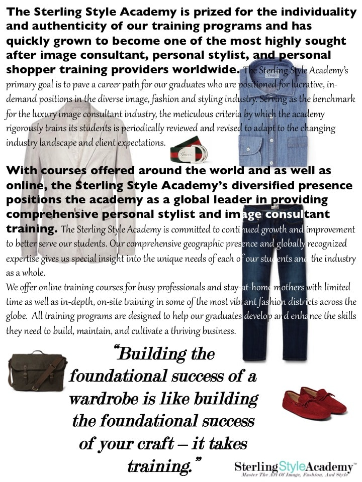 The Sterling Style Academy Training Advantage Page 2