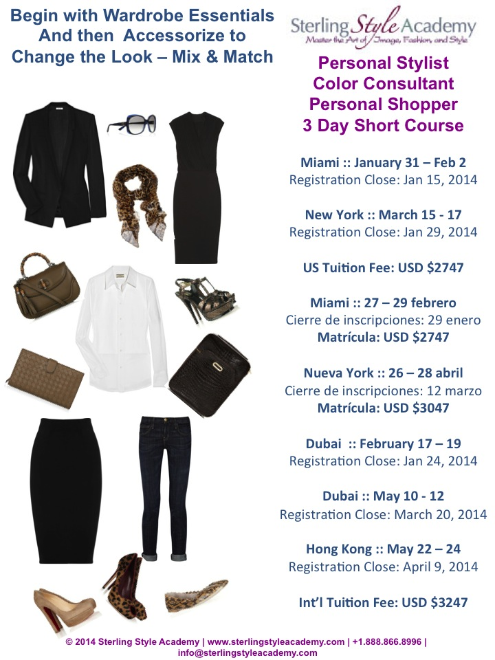 3 Day Stylist & Personal Shopper Training 2014