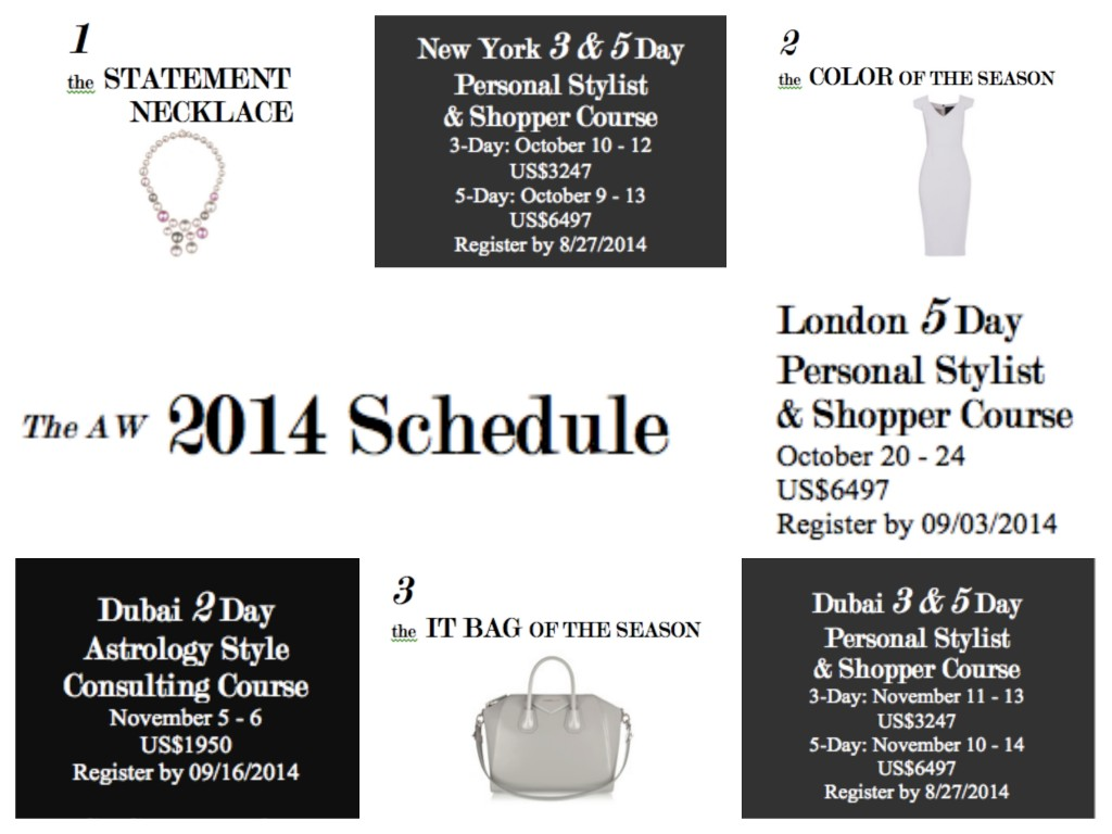 Personal Stylist & Personal Shopper Course New York, London, Dubai Sterling Style Academy
